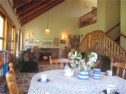 Open lounge with mezzanine bedrooms