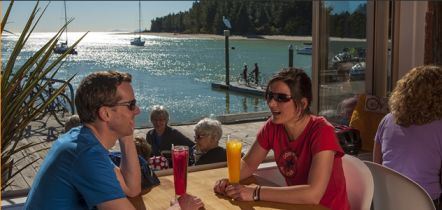 Dining at Mapua Wharf 4 mins away