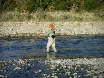 Fly Fishing on the Oreti River.
