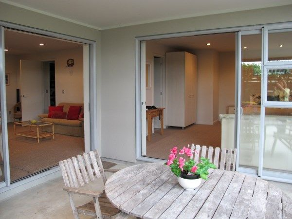 Both lounge and master bedroom open out to your courtyard with BBQ